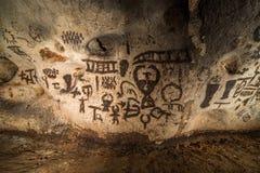 Härlig grotta i Bulgarien Arkivbilder