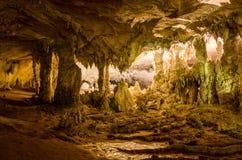 Härlig grotta i Laos Fotografering för Bildbyråer