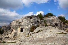 härlig grottastad Arkivfoton