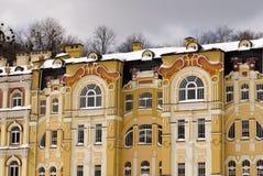 Härlig gul byggnad Arkivbilder