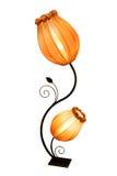 Härlig gul lampa Fotografering för Bildbyråer