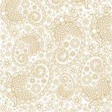 Härlig guld- lyxig blom- linje Art Vector Royaltyfri Foto