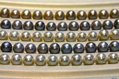 Härlig guld- pärla Arkivfoton