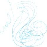 härlig hårillustration Royaltyfria Bilder