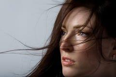 härlig hårkvinna Fotografering för Bildbyråer