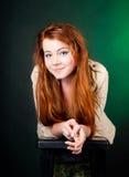 härlig haired röd kvinna Royaltyfri Fotografi