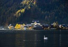Härlig Hallstatt by av Österrike arkivbilder