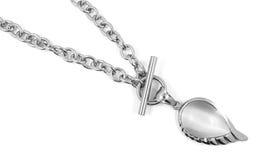 Härlig halsband för kvinnor - rostfritt stål royaltyfri fotografi