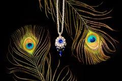 Härlig halsband som är handgjord royaltyfria foton