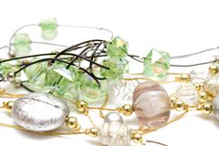 härlig halsbandsilver Royaltyfri Fotografi