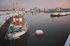Härlig hamn på vintern Royaltyfria Foton