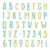 Härlig hand dragit alfabet också vektor för coreldrawillustration Royaltyfria Bilder