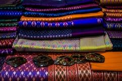 Härlig hand - gjord thailändsk Silk Fotografering för Bildbyråer