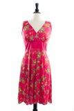 Härlig handgjord klänning på manequin Fotografering för Bildbyråer