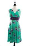 Härlig handgjord klänning på manequin Arkivbild