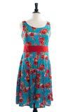 Härlig handgjord klänning på manequin Royaltyfri Bild