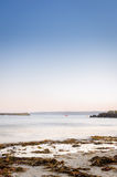 Härlig havplats på skymning Fotografering för Bildbyråer