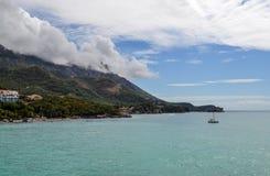 Härlig havsfjärd i sommar adriatic hav Montenegro Arkivbild