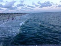 härlig havsikt arkivfoto