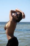härlig havskvinna royaltyfri foto