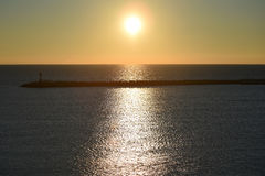 härlig havssikt Royaltyfria Foton