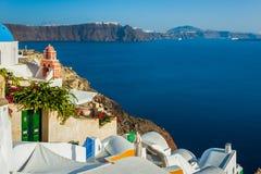 Härlig havssikt, Santorini, Grekland Arkivbilder