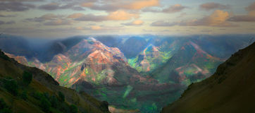 härlig hawaii ökauai liggande Royaltyfri Foto