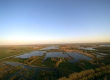 Härlig himmel i Friesland Arkivbild