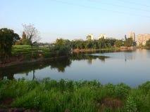 Härlig himmel- och lake,sichuanï ¼ Œchina royaltyfri foto