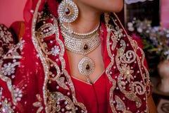 Härlig hinduisk brud Fotografering för Bildbyråer