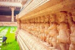 Härlig hinduisk tempel i Malaysia Arkivfoto