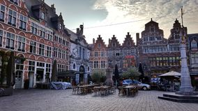 Härlig historisk arkitektur i herren Belgien Royaltyfri Foto