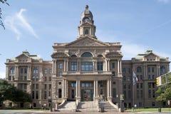 Härlig historisk byggnadTarrant County domstolsbyggnad royaltyfri foto