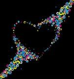 härlig hjärta Arkivbilder