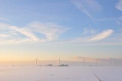 härlig holland vinter Arkivfoto