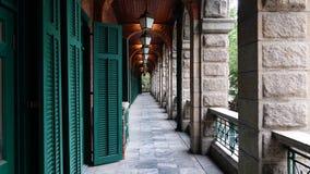 Härlig Hong Kong korridor royaltyfri fotografi
