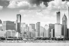 Härlig horisont av Chicago, Illinois Arkivbild