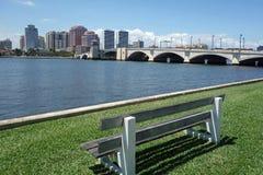 Härlig horisont av West Palm Beach, Florida Arkivbild