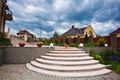 härlig husgård Royaltyfri Fotografi