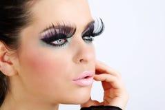 härlig idérik makeupstående Fotografering för Bildbyråer