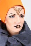 härlig idérik sminkkvinna Royaltyfria Bilder