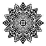 Härlig indisk blom- mandalaprydnad Arkivbilder