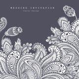 Härlig indisk blom- prydnad bröllop vektor illustrationer