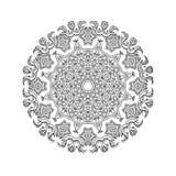 Härlig indisk blom- prydnad mandala Royaltyfria Bilder