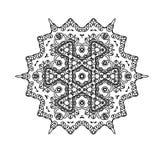 Härlig indisk blom- prydnad mandala Royaltyfri Fotografi