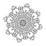 Härlig indisk blom- prydnad mandala Royaltyfri Bild