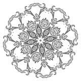 Härlig indisk blom- prydnad mandala Fotografering för Bildbyråer