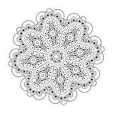 Härlig indisk blom- prydnad mandala Arkivfoto