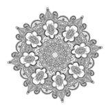 Härlig indisk blom- prydnad mandala Royaltyfri Foto