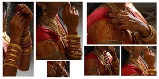 härlig indisk brud Royaltyfria Foton